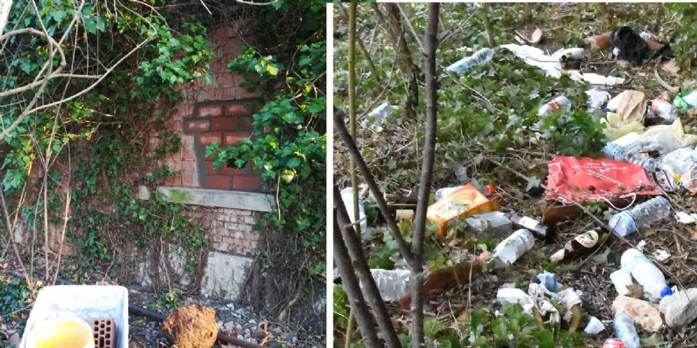 Udine, sgomberata un'area abbandonate di via Buttrio