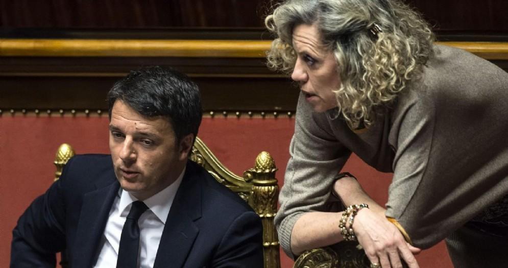 La senatrice Pd Monica Cirinnà con l'ex premier Matteo Renzi