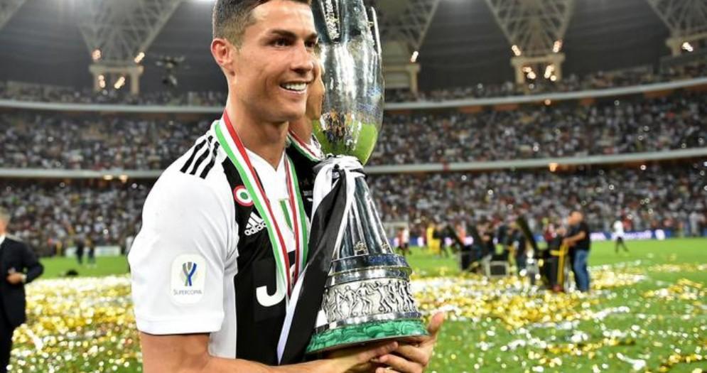 Cristiano Ronaldo con la supercoppa italiana