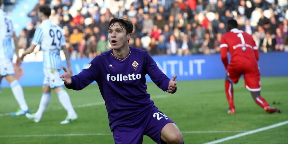 Federico Chiesa, attaccante della Fiorentina e della Nazionale