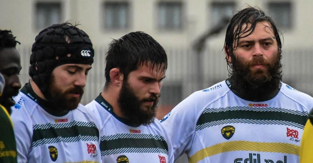 La prima linea del Biella Rugby