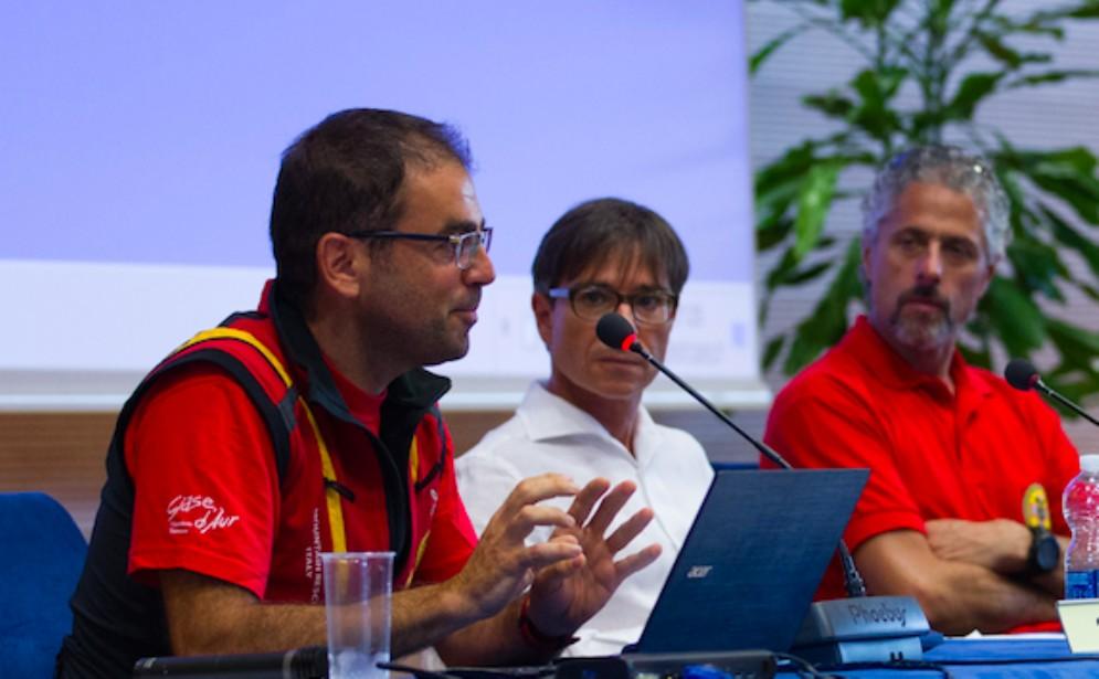 Buricelli (a sinistra, in rosso) e Todesco