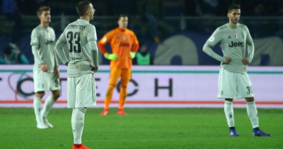 La delusione della Juventus dopo l'eliminazione dalla Coppa Italia