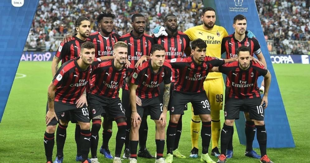Una recente formazione del Milan