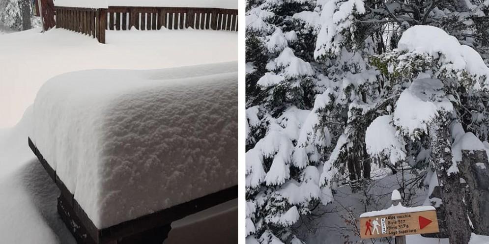 Maltempo: tanta pioggia e oltre 1 metri di neve oltre i 1.800 metri