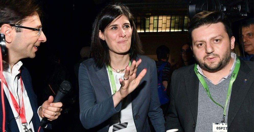 Chiara Appendino con Luca Pasquetta, all'epoca portavoce della Sindaca
