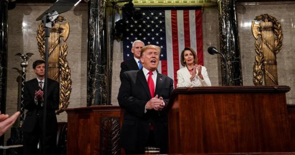 Donald Trump alla Camera per il Discorso sullo Stato dell'Unione