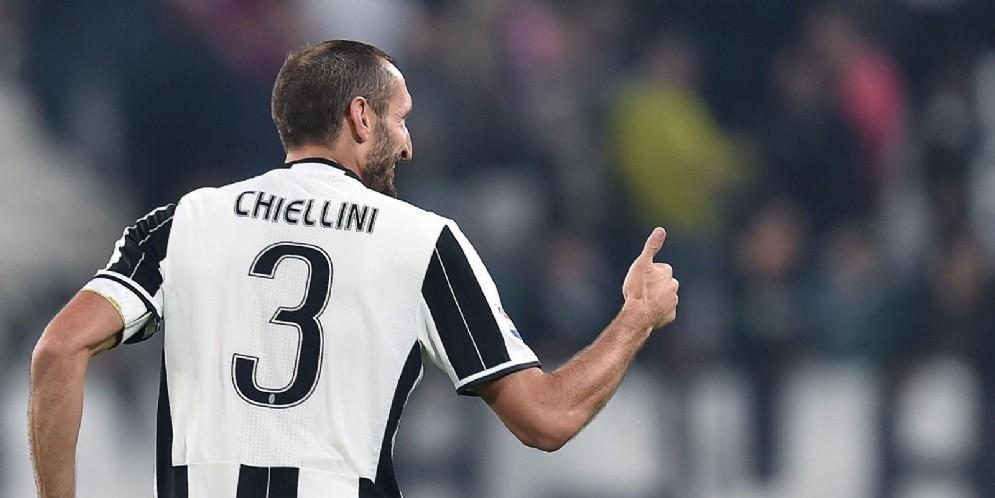 Giorgio Chiellini, difensore della Juventus e della nazionale italiana