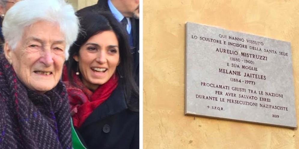 Shoah: inaugurata a Roma la targa in memoria di Aurelio e Melania Mistruzzi