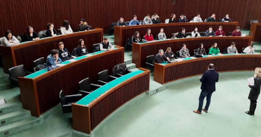 Studenti dell'Einaudi-Marconi di Staranzano in Consiglio regionale