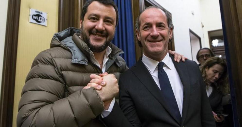 Matteo Salvini e Luca Zaia