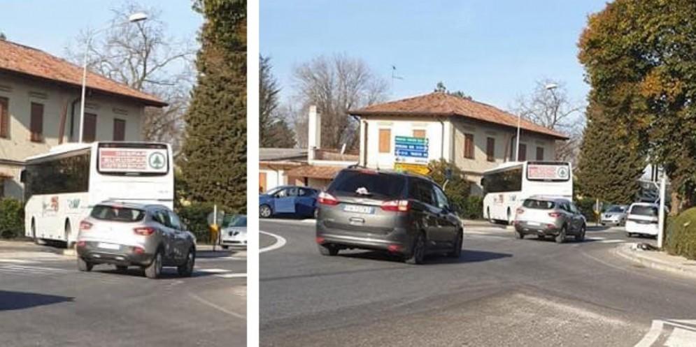 Bus della Saf finisce fuori strada: l'autista colto da un malore