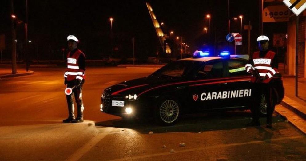Mezzi e personale dei Carabinieri
