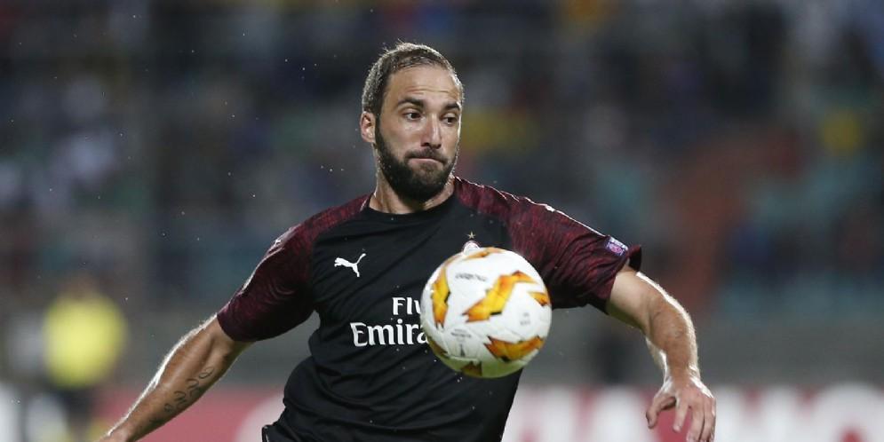 Gonzalo Higuain, centravanti in prestito al Chelsea dalla Juventus