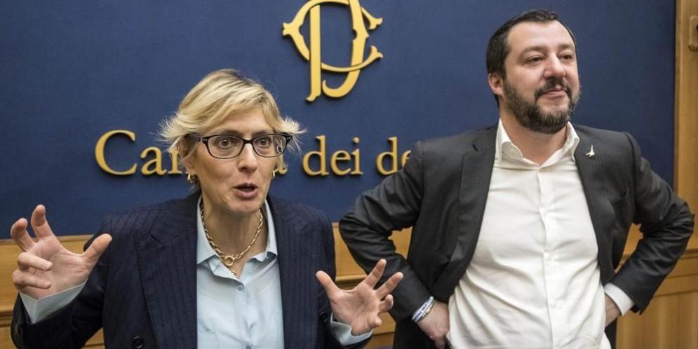 Giulia Bongiorno con Matteo Salvini