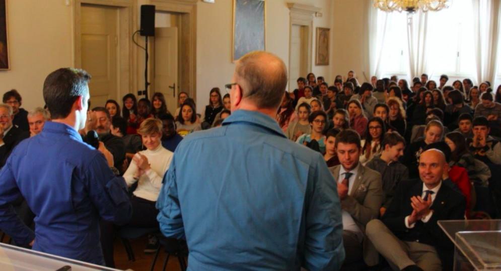 A scuola con le Frecce Tricolori fa tappa in Confindustria Udine