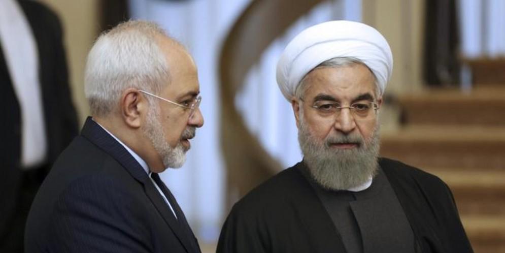 Mohammad Javad Zarif e Hassan Rohani