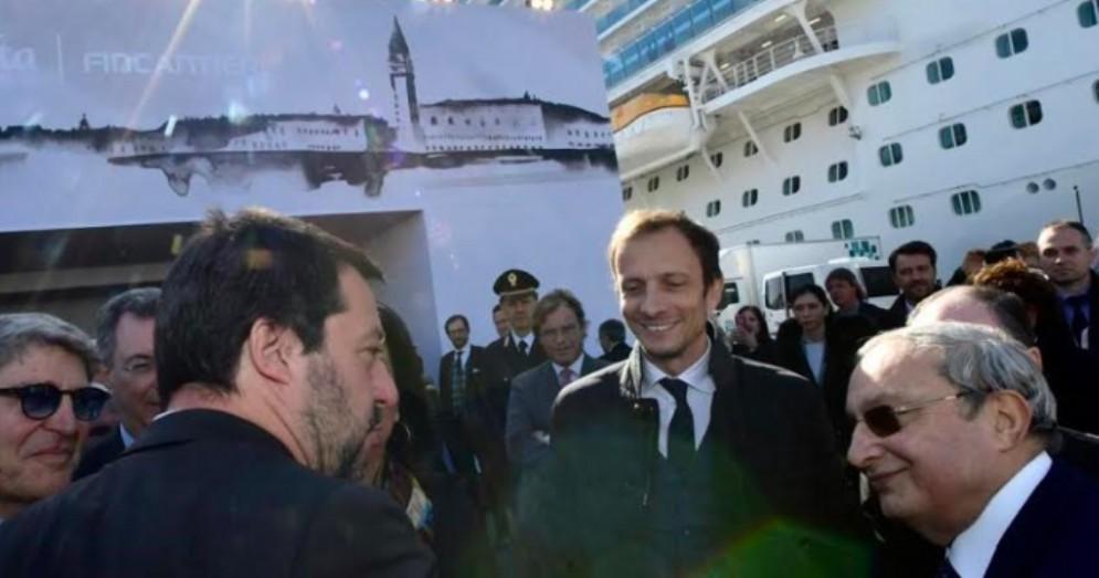 Massimiliano Fedriga con Matteo Salvini