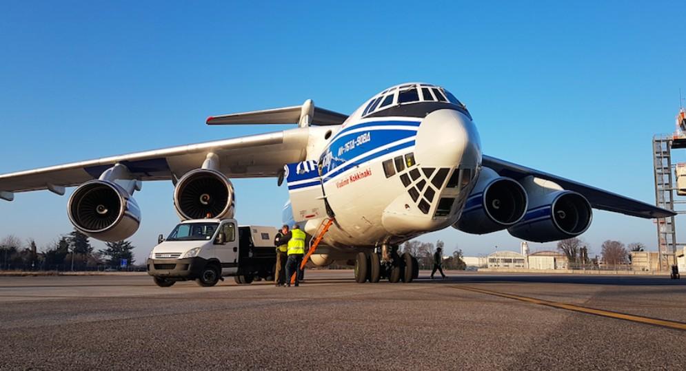 All'aeroporto del Fvg uno degli aerei cargo più grandi al mondo