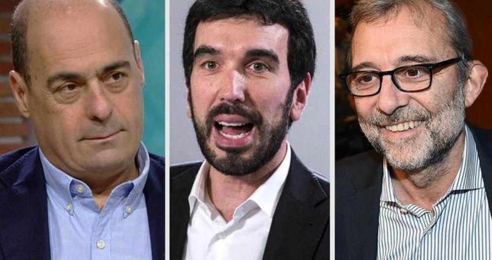 Nicola Zingaretti, Maurizio Martina e Roberto Giachetti