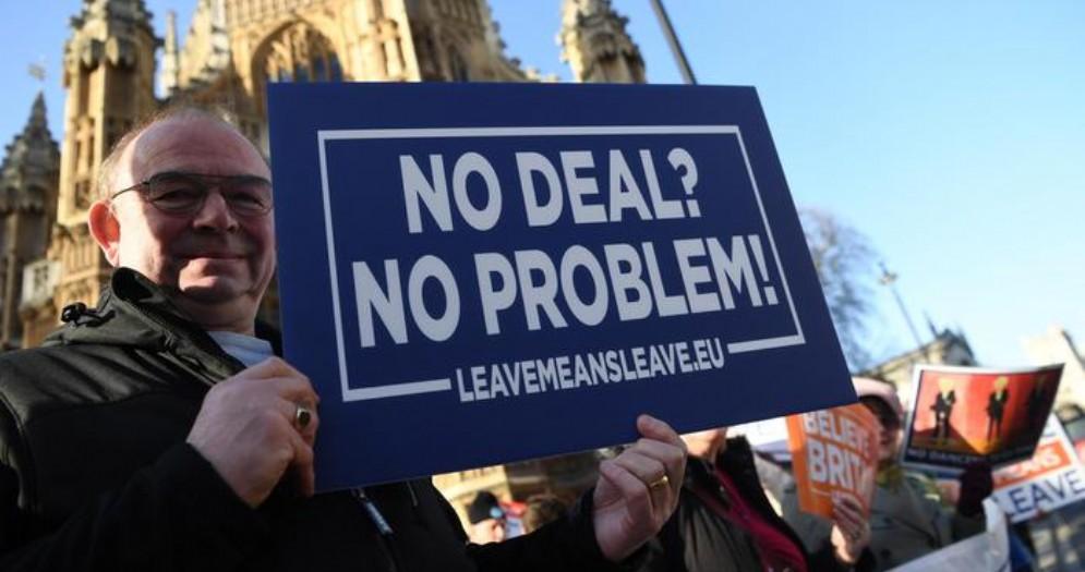 Manifestante favorevole alla Brexit
