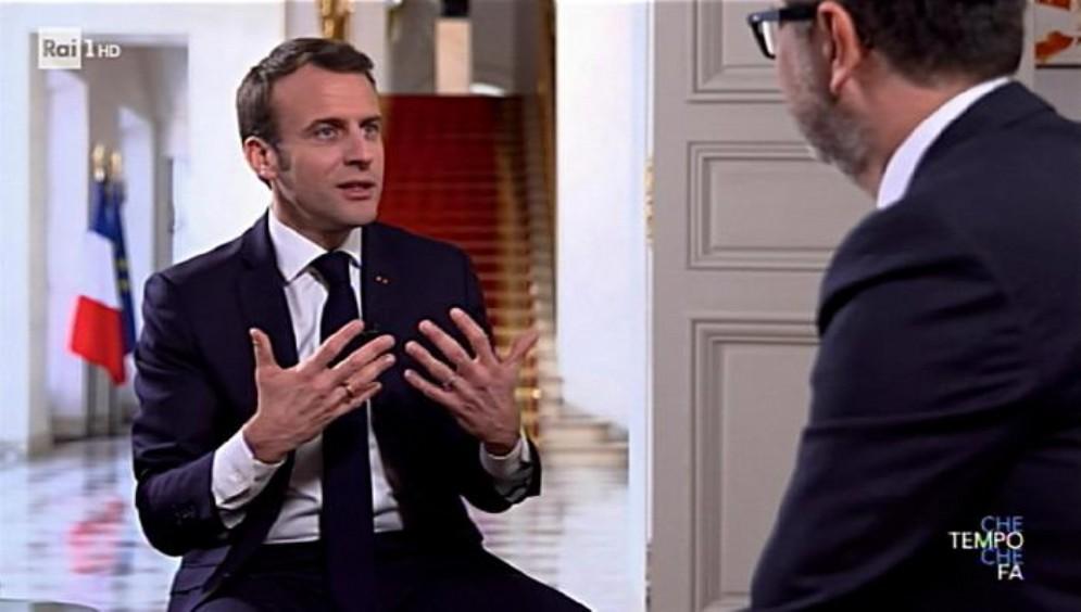 Il presidente francese Emmanuel Macron da Fazio a «Che tempo che fa»