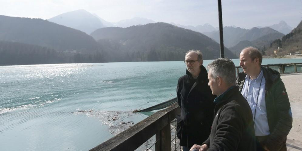 Lago di Barcis, Riccardi: «La messa in sicurezza del bacino entro maggio»