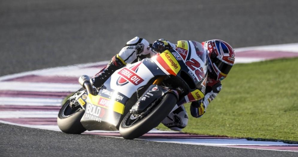 Sam Lowes durante i test in Qatar