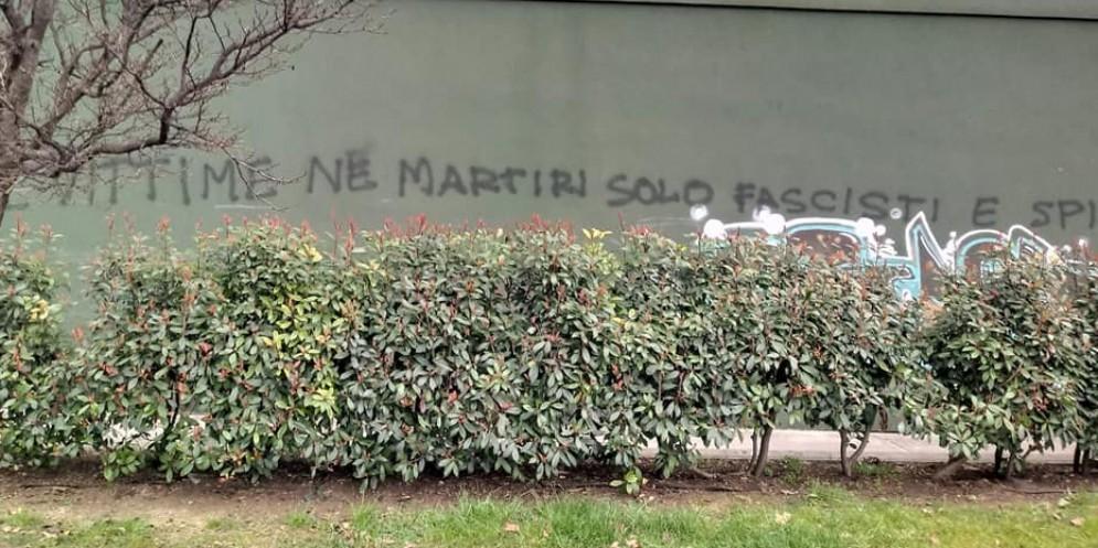 Scritta contro gli infoibati: lo sdegno di Fontanini e Serracchiani