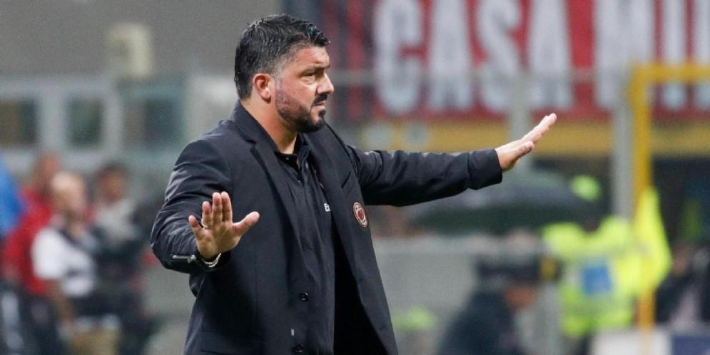Il tecnico del Milan Rino Gattuso
