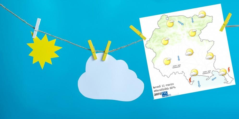 Che tempo farà lunedì 11 marzo? Ve lo dice l'Osmer Fvg