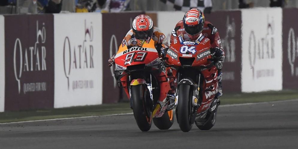 Dovizioso vince in volata su Marquez
