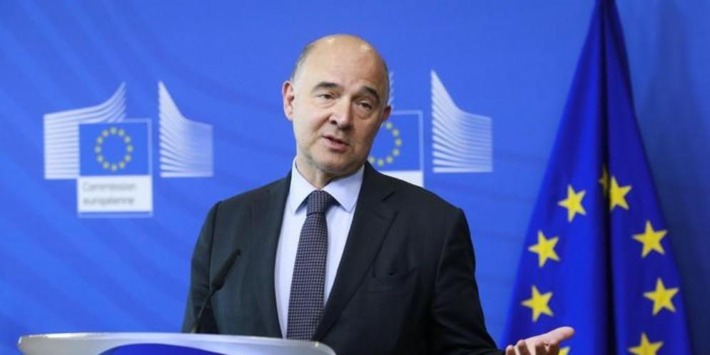 Il commissario Ue agli Affari economici e finanziari, Pierre Moscovici