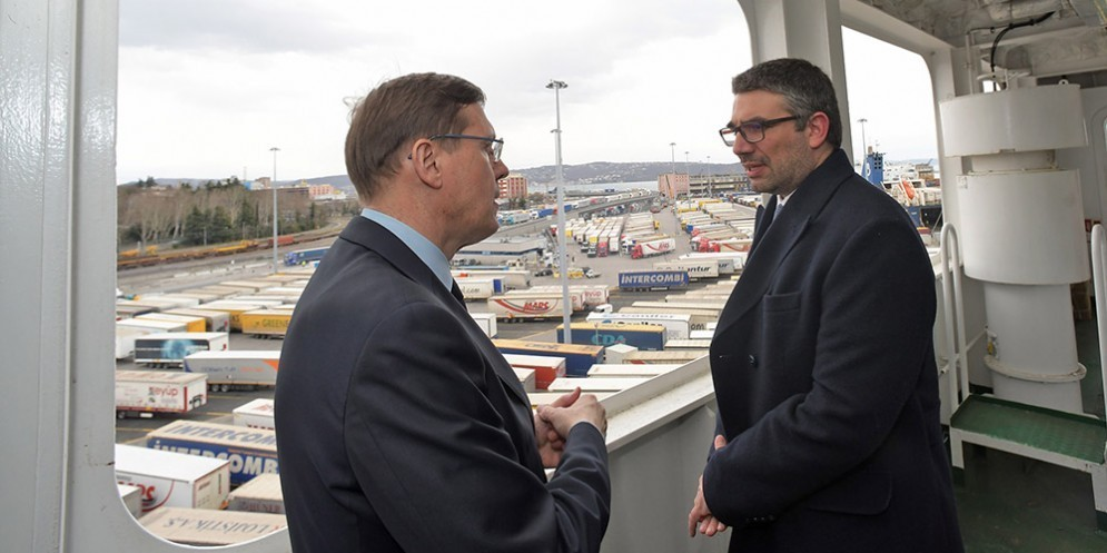 Inaugurato il traghetto merci 'Ephesus Seaways' il più grade mai attraccato al porto