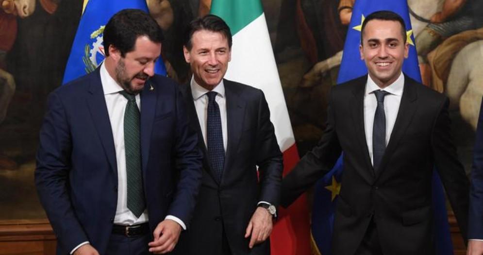 Matteo Salvini, Giuseppe Conte e Luigi Di Maio