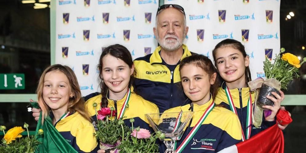 Campionati italiani fioretto femminile a squadre, Oro per la Scherma Vittoria Libertas Pn