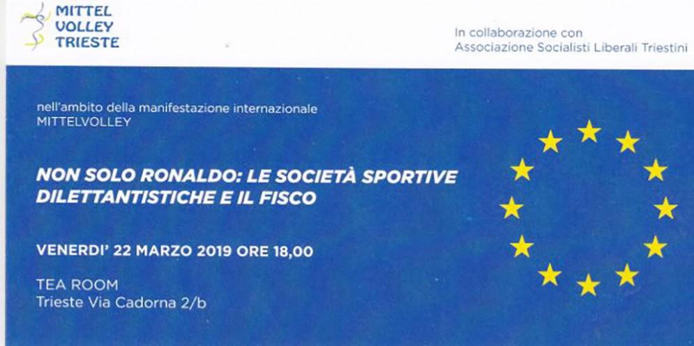 Il 22 marzo il convegno 'Non solo Ronaldo: le società sportive dilettantistiche e il fisco'
