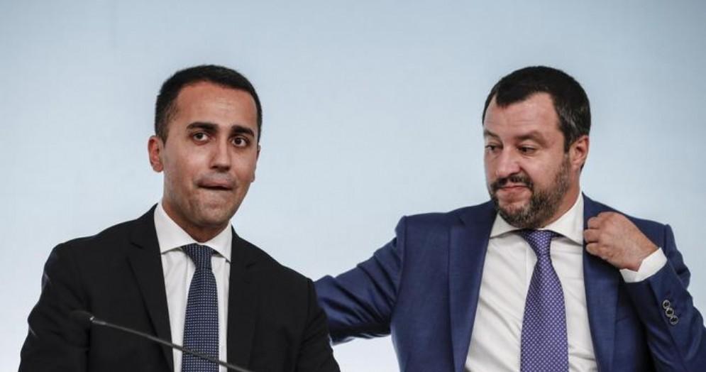 I vice premier Luigi Di Maio e Matteo Salvini