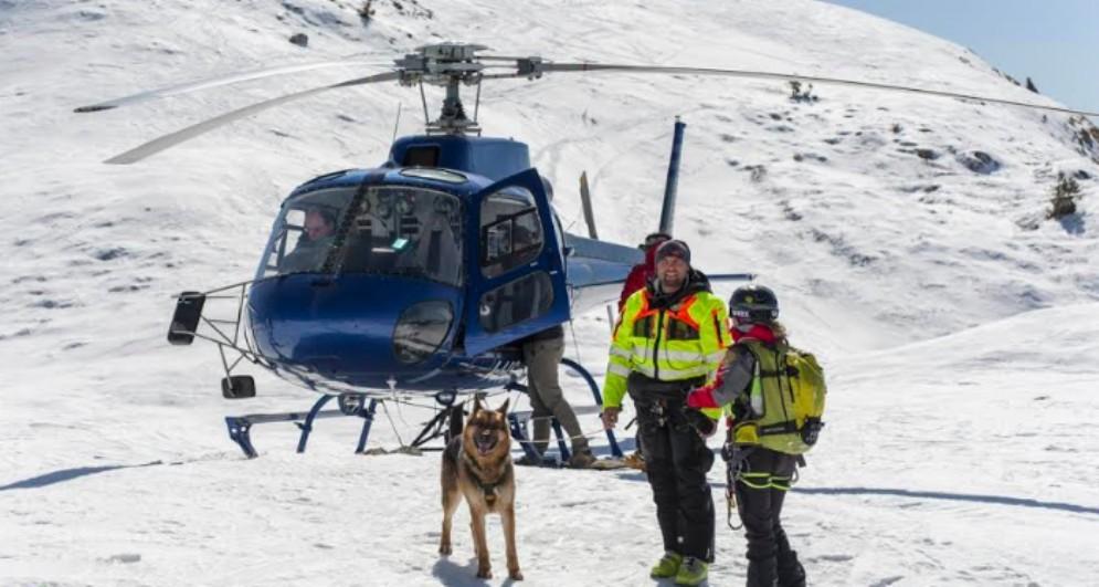 Donna soccorsa sul Canin dall'elicottero della Protezione Civile