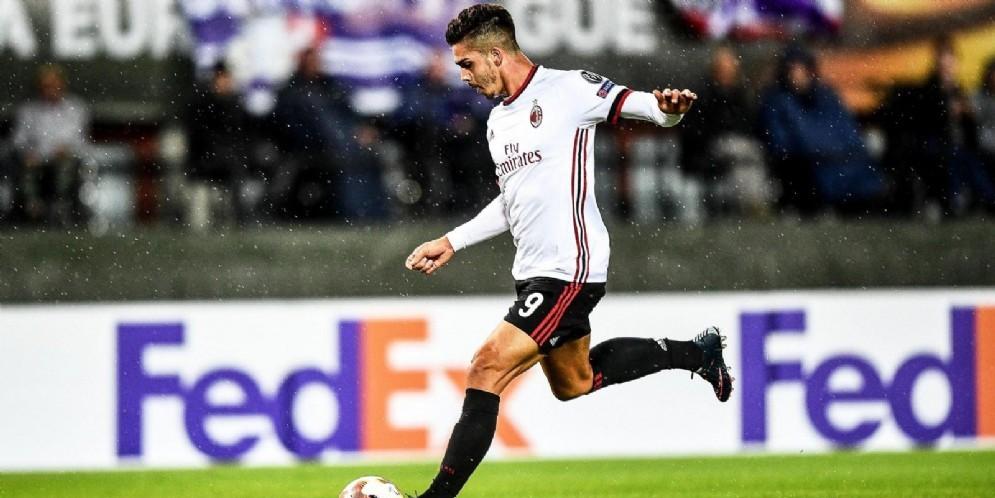 André Silva, centravanti portoghese di proprietà del Milan in prestito al Siviglia