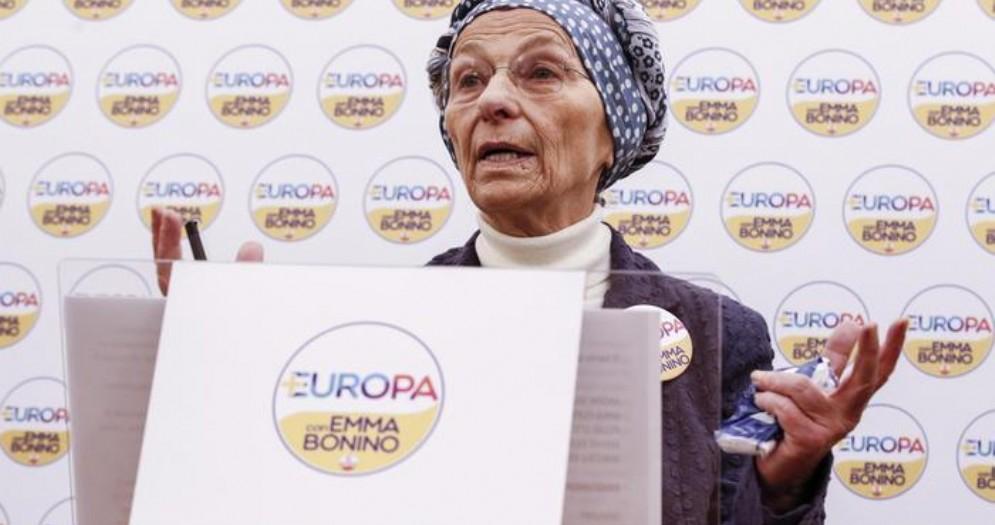 La leader di +Europa, Emma Bonino