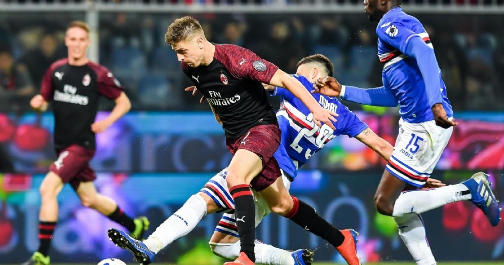 Il calcio di rigore non concesso a Piatek durante Sampdoria-Milan