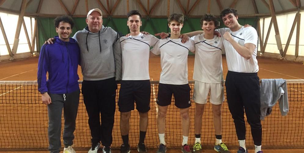 La serie C maschile del Tennis Club Triestino batte l'Asd Corno di Rosazzo
