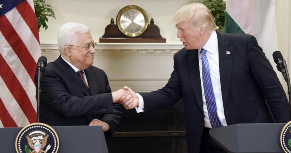 Abu Mazen con il Presidente americano, Donald Trump