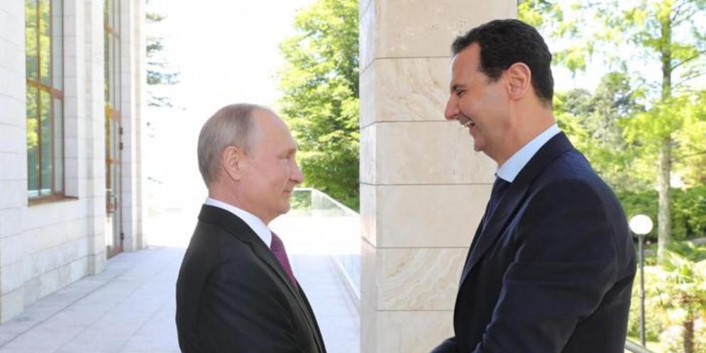 Vladimir Putin con Bashar al-Assad