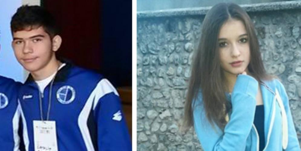 Catalin Fendic (19 anni) e Elisa Pitussi (16 anni)