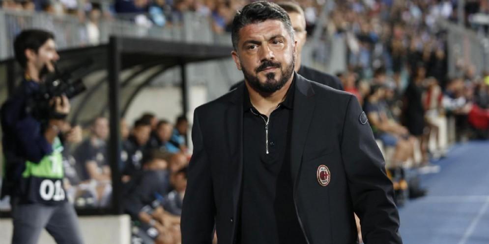 Il tecnico del Milan Gattuso sempre più in bilico