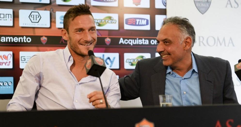 Francesco Totti e James Pallotta preparano un doppio sgarbo al Milan
