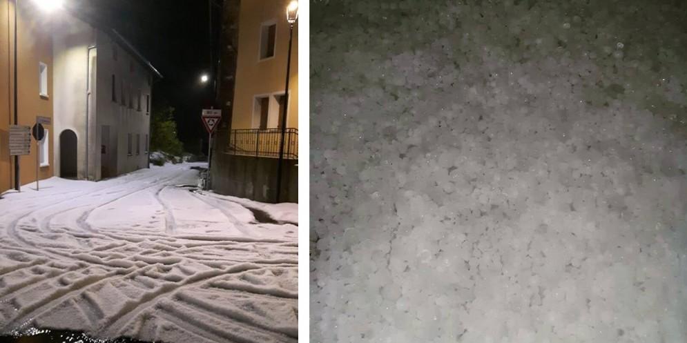 Maltempo: forte grandinata sul Friuli Occidentale