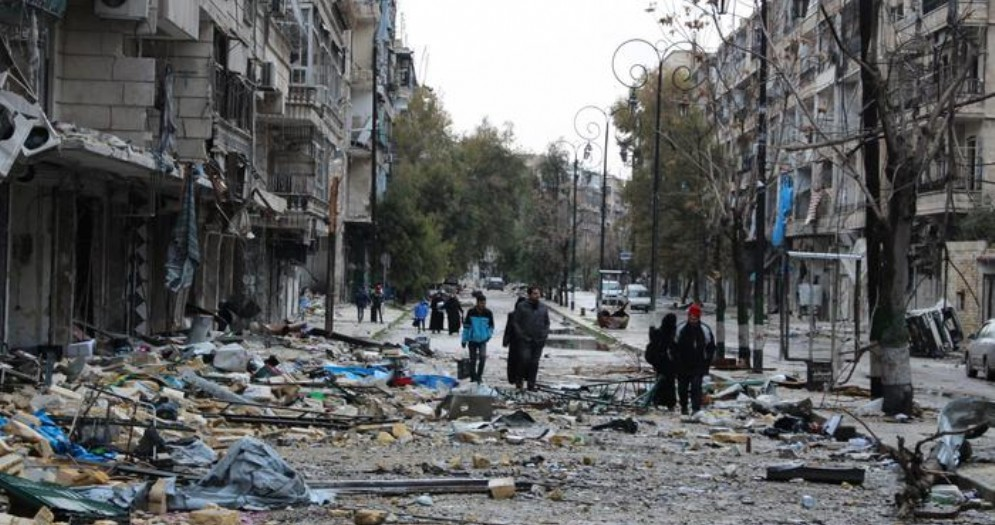 La devastazione ad Aleppo
